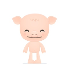funny cartoon pig vector image