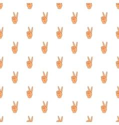 Gesture victoria pattern cartoon style vector