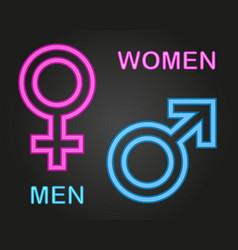 girl and boy gender sign vector image