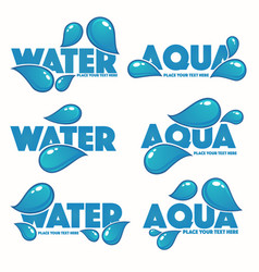 Glossy and shine set of water design logo vector