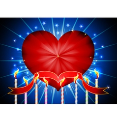 Glossy heart happy valentines day background vector