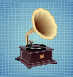 Gramophone on a blue background vector