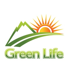 green life vector image
