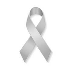 Grey ribbon as symbol of borderline personality vector