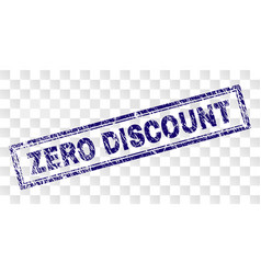 grunge zero discount rectangle stamp vector image