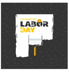 Happy labor day beautiful typography with vector