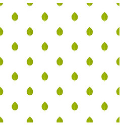 Hazel leaf pattern seamless vector