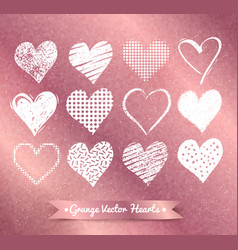 Hearts on rose gold background vector