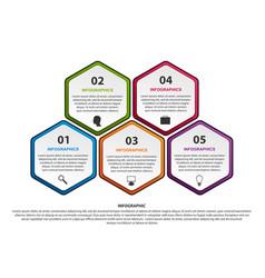 Hexagon options infographics template vector