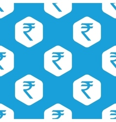 Indian rupee hexagon pattern vector