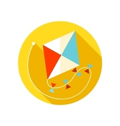Kite flat icon with long shadow vector image