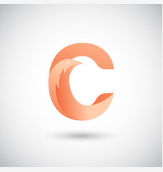 letter c with dove logo concept creative and vector image