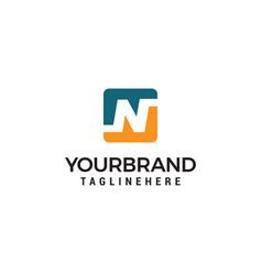 letter n squares logo design template vector image
