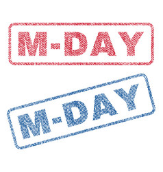 m-day textile stamps vector image