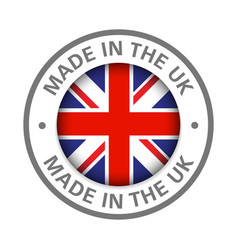Made in uk icon vector