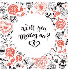 marry me card vector image