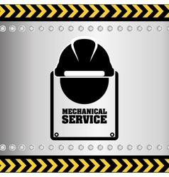 mechanical service design vector image