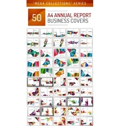 Mega collection of 50 business annual report vector image