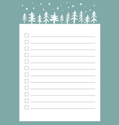 New year and christmas holidays to do list with vector