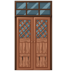 Old wooden door in bad condition vector