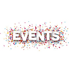 Paper events confetti sign vector