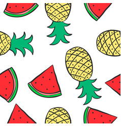 Patter of fruit style collection vector
