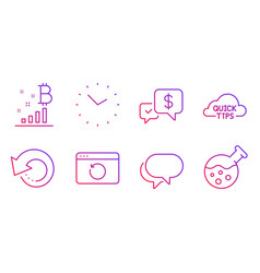 Payment received talk bubble and quick tips icons vector