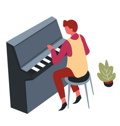 pianist playing musical instrument or piano music vector image