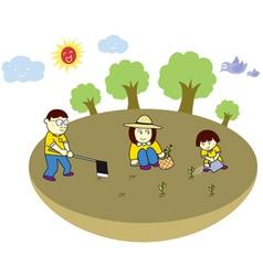 Plant trees vector