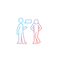 Psychological barriers gradient linear icon vector