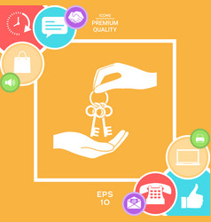 receiving the bunch of keys - icon vector image