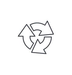 refresh three arrow rotate thin line icon linear vector image
