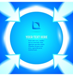 round frame arrows bright blue background vector image
