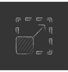 Scalability Drawn in chalk icon vector