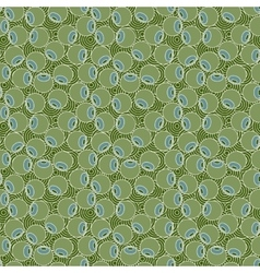 seamless pattern of stylized olive vector image