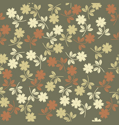 seamless pattern wiyh colorful flowers vector image