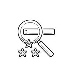 search engine marketing hand drawn outline doodle vector image