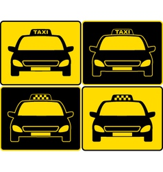 set of taxi cars sign vector image