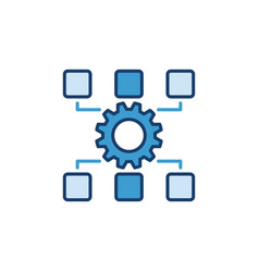 settings blue concept icon or logo vector image