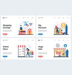 shopping at season big discounts offer sale vector image