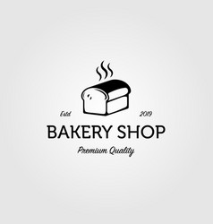 Simple bakery shop logo vintage design vector