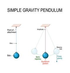 Simple gravity pendulum vector