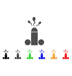 Sperm ejaculation icon vector