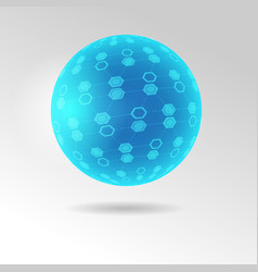 spherical tesseract shape vector image