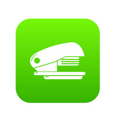 stapler icon green vector image
