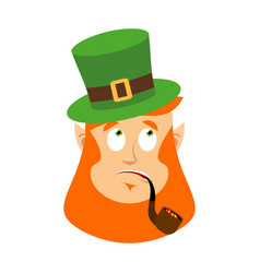 stpatrick s day leprechaun surprised dwarf with vector image