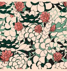 Succulent seamless pattern vector