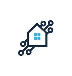 tech house logo icon design vector image