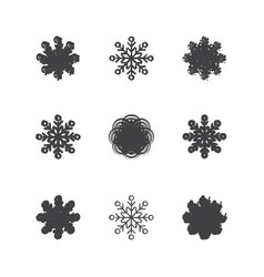 this is a set of of snowflakes vector image
