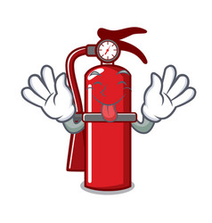 Tongue out fire extinguisher mascot cartoon vector